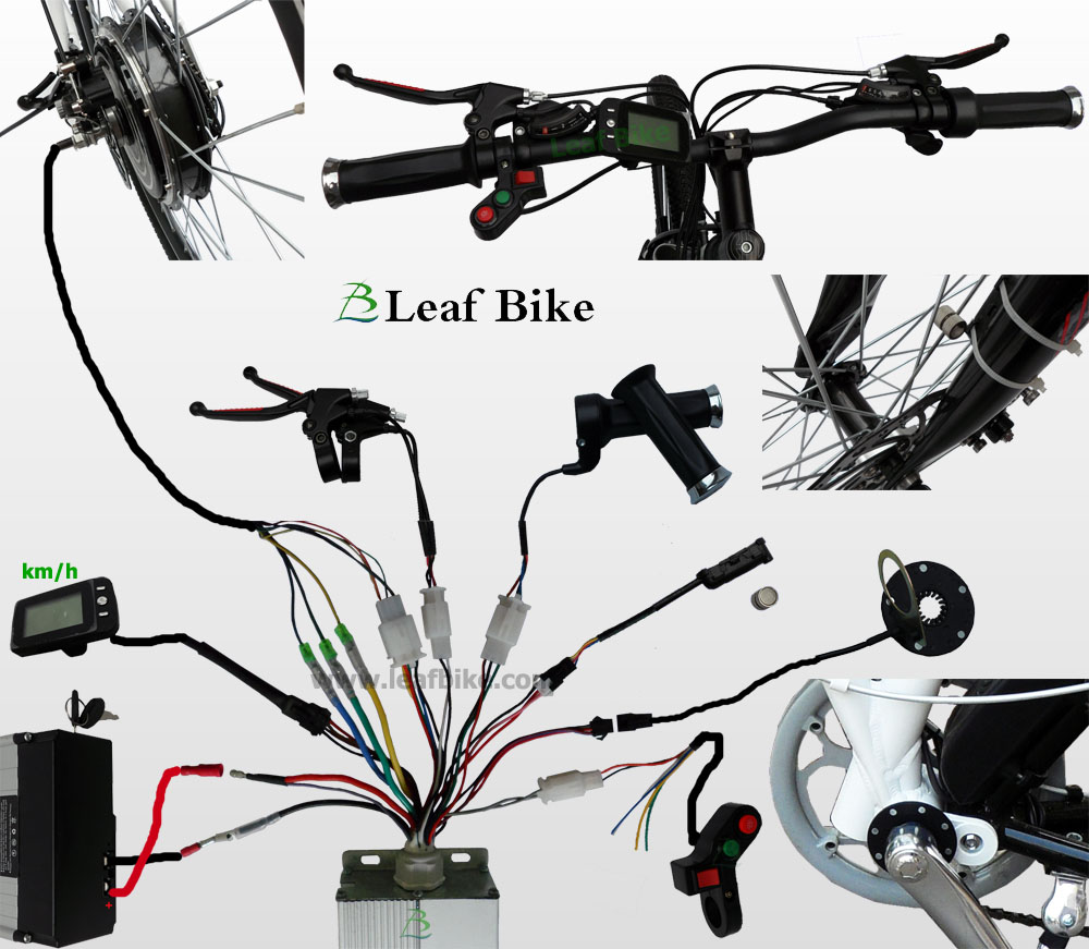 24 Inch 48v 1000w Rear Hub Motor Electric Bike Conversion Kit Power Wheels Motorcycle Wiring Diagram Wire For Bldc