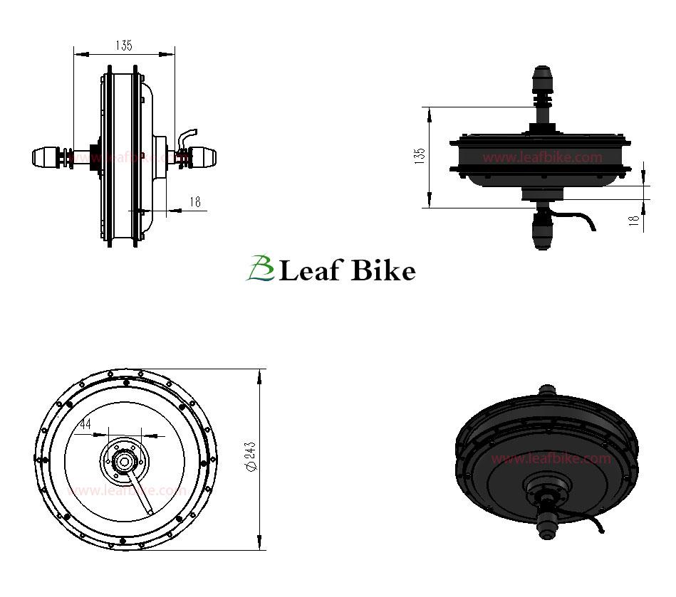 Newest 26 inch 48v 1500w rear hub motor electric bike for Electric bike rear hub motor