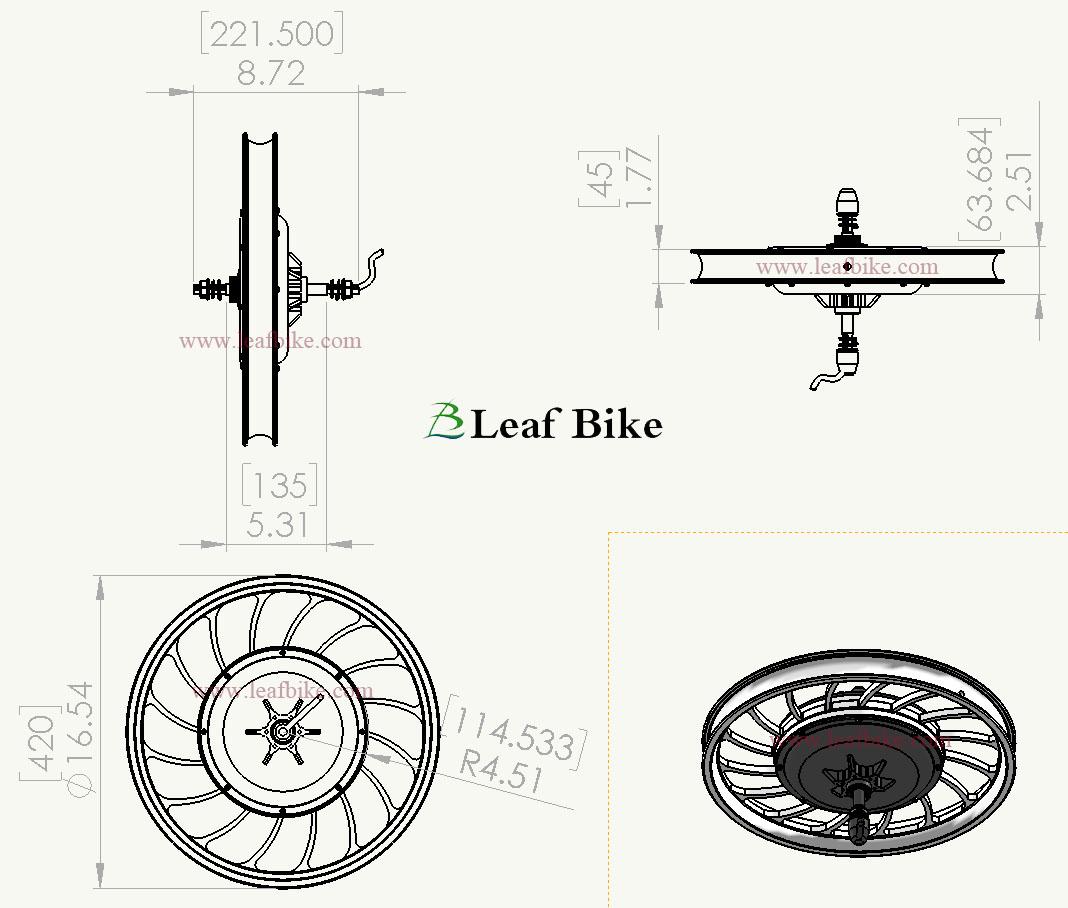 20 inch 36v 750w rear casted hub motor electric bike